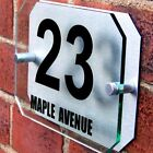 MODERN HOUSE SIGN PLAQUE DOOR NUMBER STREET A025