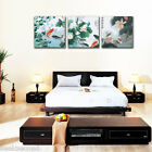 """Set of three Paint by Number 50x50cm (20x20"""") Fish & Lotus DIY Painting YT17019"""
