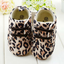 SCARPE BABY BAMBINA SHOES FIRST WALKERS GIRL LEOPARD 3 6 9 MESI NEW 2014 NEONATO