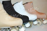 LYCRA SKATE ROLLER SKATING BOOT COVERS NEUTRAL COLOURS MEDIUM SIZE