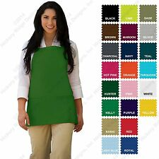 Hickory Ridge 200 Three Pocket Bib Apron w/3 Pockets - Made In USA
