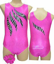 Girls Size 6,7,8,10,12  - Leotard & Scrunchie  -  Gymnastic Dance -