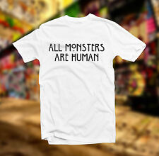 HUMAN ALL AMERICAN HORROR STORY T SHIRT MONSTERS FUNNY TOP FASHION UNISEX TUMBLR