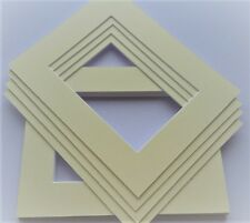 CREAM/IVORY picture and photo frame mounts. Ideal sizes & pack quantity