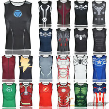 Men's Compression Shirt Tight Base Layer Superhero Tank Top Vest Tops Sleeveless
