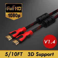 1.5/3M Connection HDMI Cable V1.4 HD 1080P For LCD HDTV PS4 XBOX Bluray 5/10FT