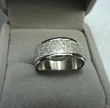 Fashion top hotsale Women Men Frosted sliver color Stainless steel Ring jewelry