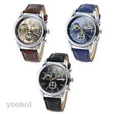 Togex Quartz Analogue Wristwatch with PU Leather Band for Men's/Women's