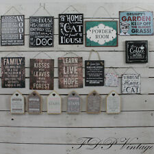 Vintage Signs Chic Metal Plaque Slate Humorous Sayings Home Garden Pet Friend