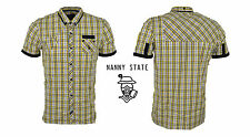 Nanny State Portman Short Sleeve Shirt in Yellow WAS £65 NOW £23.50 S, M, L, XL