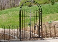 Garden Arbor and Gate Combination with 6' Gate, Gateway Trellis