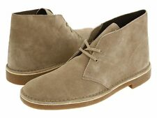 NEW CLARKS MENS BUSHACRE 2 DESERT BOOT SAND SUEDE BOOTS 82285