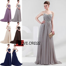 STOCK New Bridesmaid Dress Prom Party Ball Evening/Wedding Gown Dresses Size6-18