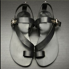 Mens Roman toe soft hollow comfort beach genuine leather new Sandals Shoes
