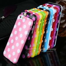 Ultra thin Hot Polka Dot Silicon Soft TPU Phone Cover Case For iphone 4S 5 5C 6