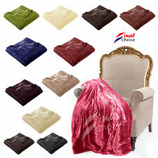Large Luxury Soft Mink Faux Fur Throw Blanket Soft Warm Fleece For Bed Sofa Home