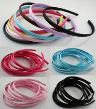 Wholesale NEW 10pcs 10mm DIY Women girls Colors Covered Satin Headband Hair Band