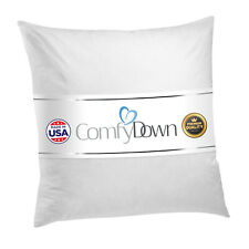 ComfyDown - Euro Square Pillow Insert FEATHER / DOWN  - ALL SIZES!! Made in USA