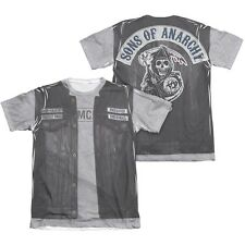 Sons of Anarchy SOA Unholy Costume 2-Sided Sublimation Poly Blend Shirt S-3XL