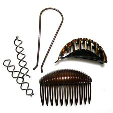 Goody Simple Styles Modern Updo Spin Pins Pony Pouf Clip Volume Hair Boost Comb