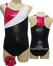 Size 7,8,10,12, - Leotard Gymnastic Dance - Leotard & Scrunchie - BNWT