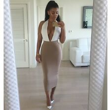 New Womens Sleeveless Ladies Midi Maxi Bandage Bodycon Cocktail Evening Dress