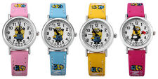 Despicable Me Minions Cartoon Watch Analog Quartz Leather Band for Children Kids