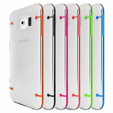 For Samsung Galaxy S6 - Slim Plastic Clear Transparent Hard Case Cover Bumper