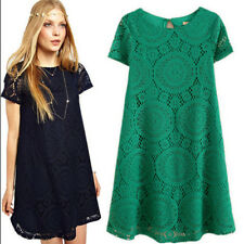 Fashion Women Summer Casual Party Evening Cocktail Floral Short Lace Mini Dress