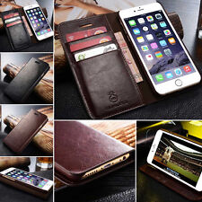 Genuine Real Leather Wallet Card Holder Flip Case Cover for 5s 6 6 Plus