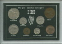 Republic of Ireland Eire Irish Pre Decimal Coinage Coin Gift Set in Display Case