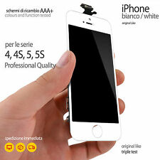 SCHERMO BIANCO COMPLETO IPHONE 4-4S-5-5S VETRO TOUCH SCREEN + LCD DISPLAY