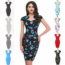 ~Vintage Style~ 50's 60's Retro Rockabilly Pin-UP Pencil Formal Evening Dresses