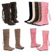 Neu Stiefel High Heels Wedge Knee Stiefeletten Winter/Herbst Damenschuhe Boots
