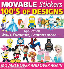 MOVABLE Wall Stickers Paw Patrol, Frozen, Spiderman, Minnie Mouse and More