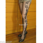 8055 Sexy Black Charming Small Roses Tights Fishnet Hollow Out Stockings Hosiery