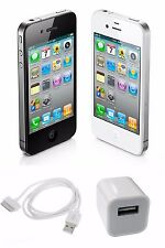 Apple iPhone 4 Unlocked 8GB 16GB Black & White AT&T T-Mobile Smartphone