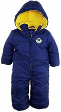 iXtreme Baby Boys Cute Teddy Bear and Car One Piece Puffer Winter Snowsuit