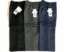 SCHOOL BOYS ZIP TROUSERS-BLACK/GREY/NAVY- AGES 7-15YRS- TEFLON PROTECTOR