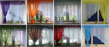 "Voile Sheer Net Curtain Panel   W370cm x L150cm/145"" x 59""  Ready Made"
