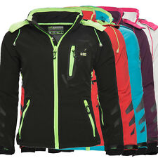 Geographical Norway Damen Softshell Funktions Jacke Übergangs Outdoor Touch