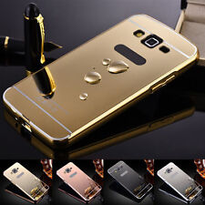 Aluminum Metal  Mirror Case +PC Back Cover For Samsung Galaxy Grand Prime G530