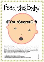 """""""FEED the BABY"""" Shower Game for 20. Ready to play unlike pin the dummy pacifier"""
