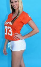 Ladies Lace-Up Hot Football, Cheer Shorts Hooters,  White, Black,