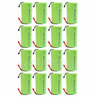 16 Pcs SubC Sub C 2900mAh 1.2V Ni-MH Rechargeable Battery with Tab Green