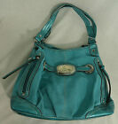 Kathy Van Zeeland Belted Shopper with Cosmetic Case Turquoise
