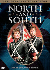 NORTH and SOUTH - THE COMPLETE COLLECTION - 3 MINI-SERIES ON 5 DISCS - VIEWED