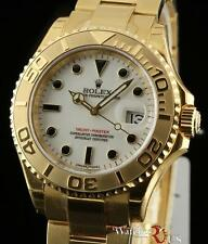 Rolex New Yacht-Master 16628 Gold 40mm White 2008 Box/Papers/Warranty #RL103