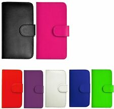 PU LEATHER FLIP WALLET CASE COVER FOR MOTOROLA MOBILE PHONE + SCREEN PROTECTOR
