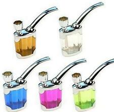 Water Smoking Tobacco Pipe Cigarette Tube Holder Filter 5 colors